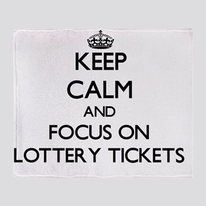 Keep Calm by focusing on Lottery Tic Throw Blanket
