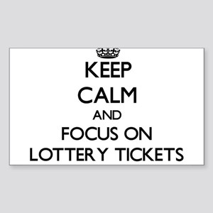 Keep Calm by focusing on Lottery Tickets Sticker