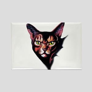 Cat Portrait Watercolor Style Magnets