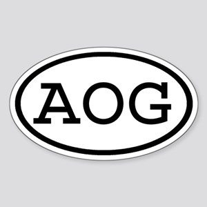 AOG Oval Oval Sticker