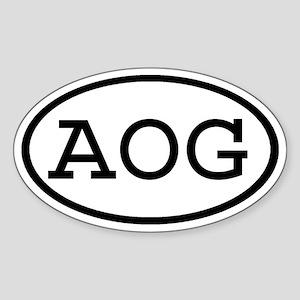 AOG Oval Oval Sticker