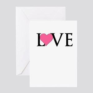 Love with Heart Greeting Cards