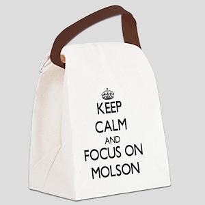 Keep Calm by focusing on Molson Canvas Lunch Bag