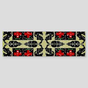 Atomic Pattern Bumper Sticker