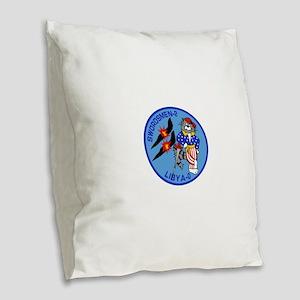 3-vf32logo Burlap Throw Pillow