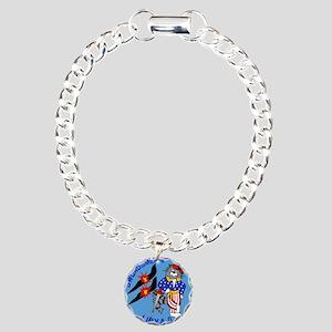 3-vf32logo Charm Bracelet, One Charm