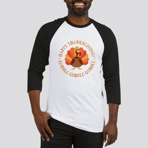 Happy Thanksgiving Turkey Baseball Jersey