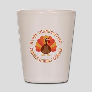 Happy Thanksgiving Turkey Shot Glass