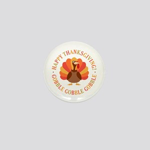 Happy Thanksgiving Turkey Mini Button