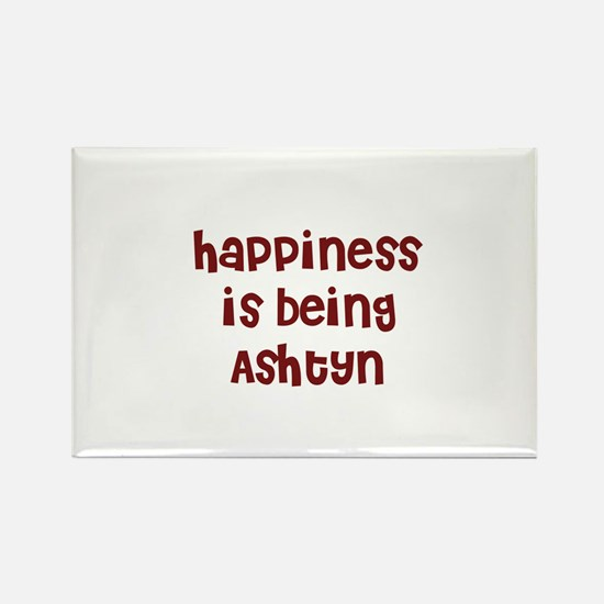 happiness is being Ashtyn Rectangle Magnet