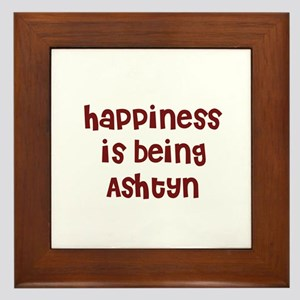 happiness is being Ashtyn Framed Tile