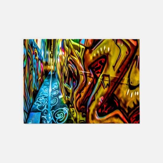 Graffiti Alley 5'x7'Area Rug