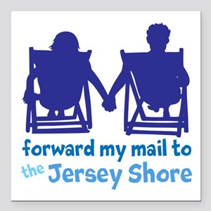 "Jersey Shore Square Car Magnet 3"" x 3"""