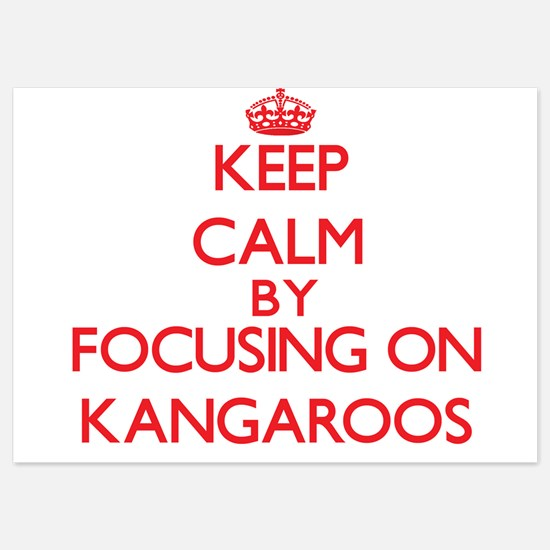 Keep Calm by focusing on Kangaroos Invitations