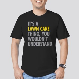 Lawn Care Thing Men's Fitted T-Shirt (dark)