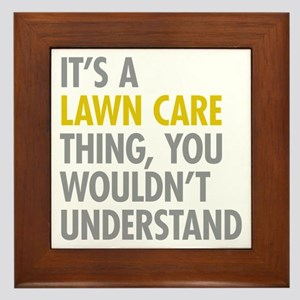 Lawn Care Thing Framed Tile