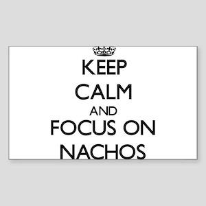 Keep Calm by focusing on Nachos Sticker