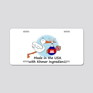 stork baby camb 2 Aluminum License Plate