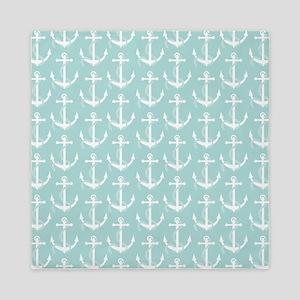 Nautical Anchors Aweigh Light Blue Queen Duvet