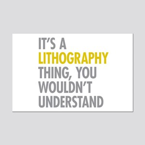 Its A Lithography Thing Mini Poster Print