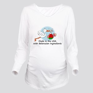 stork baby belarus 2 Long Sleeve Maternity T-Shirt