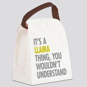 Its A Llama Thing Canvas Lunch Bag