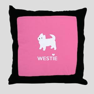 West Highland White Terrier - Westie Throw Pillow