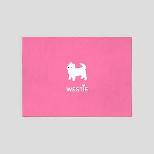 West Highland White Terrier - Westie 5'x7'Area Rug