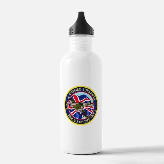 SPITFIRE w.UK flag.png Water Bottle