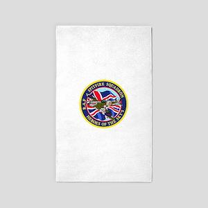 SPITFIRE w.UK flag 3'x5' Area Rug
