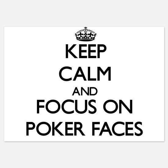 Keep Calm by focusing on Poker Faces Invitations