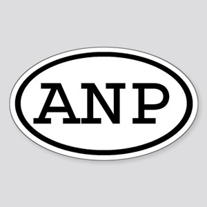 ANP Oval Oval Sticker