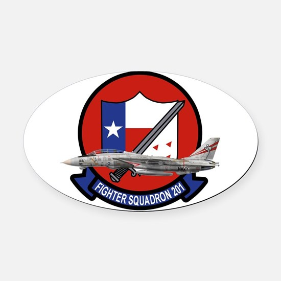 Funny Naval aviation wings Oval Car Magnet