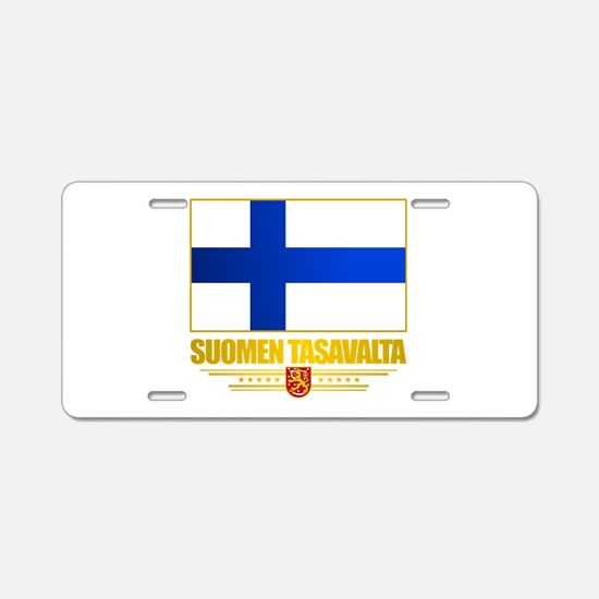 Flag of Finland Aluminum License Plate