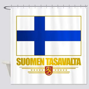 Flag of Finland Shower Curtain