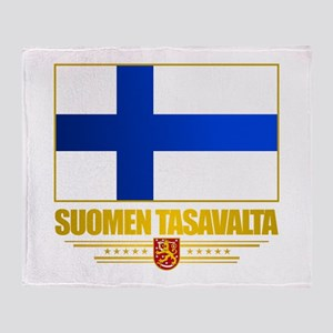 Flag of Finland Throw Blanket