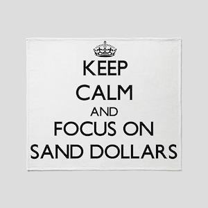 Keep Calm by focusing on Sand Dollar Throw Blanket
