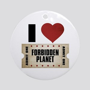 I Heart Forbidden Planet Ticket Round Ornament