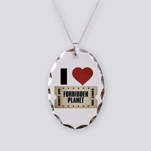 I Heart Forbidden Planet Ticket Necklace Oval Char