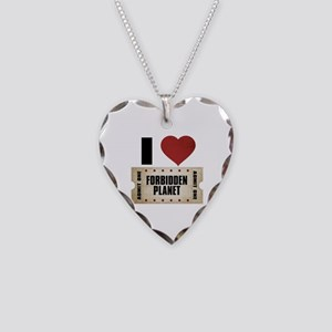 I Heart Forbidden Planet Ticket Necklace Heart Cha