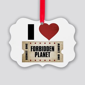 I Heart Forbidden Planet Ticket Picture Ornament