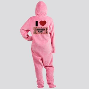 I Heart Forbidden Planet Ticket Footed Pajamas