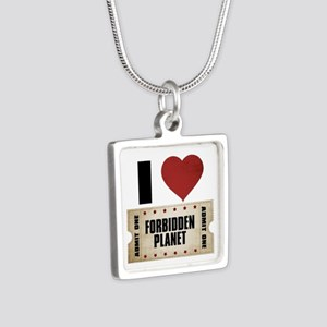 I Heart Forbidden Planet Ticket Silver Square Neck
