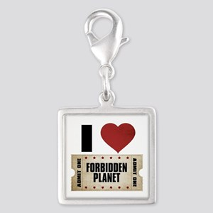 I Heart Forbidden Planet Ticket Silver Square Char