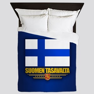 Flag of Finland Queen Duvet