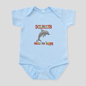 Dolphins Make Me Happy Infant Bodysuit