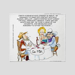 Cowboy Card Games Throw Blanket
