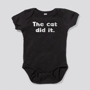The Cat Did It Baby Bodysuit