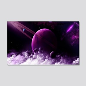 Purple Saturn Wall Decal