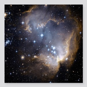 "Deep Space Nebula Square Car Magnet 3"" x 3"""